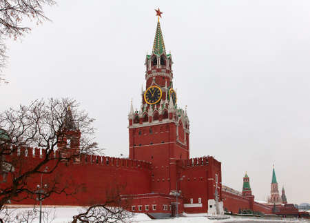 clody: Moscow Kremlin in a clody winter day