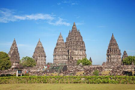 yogyakarta: Hindu temple Prambanan. Indonesia, Java, Yogyakarta