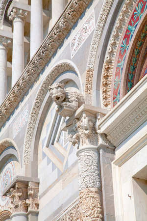 miracle square: Detail of the facade of dome in Miracle Square (Pisa - Tuscany) Stock Photo