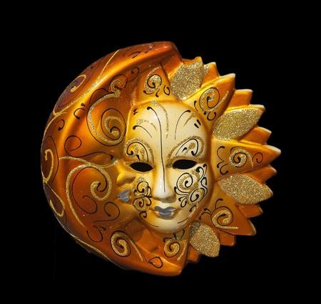 masque de venise: masque de Venise traditionnel avec d�coration color�e Banque d'images