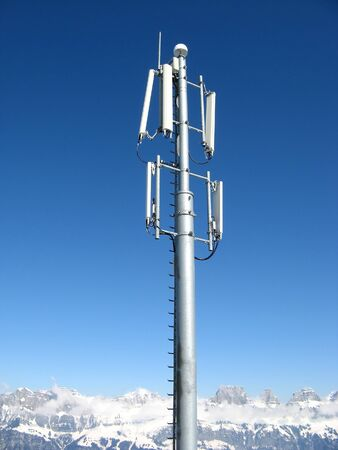 GSM Antenna installed in swiss alps photo