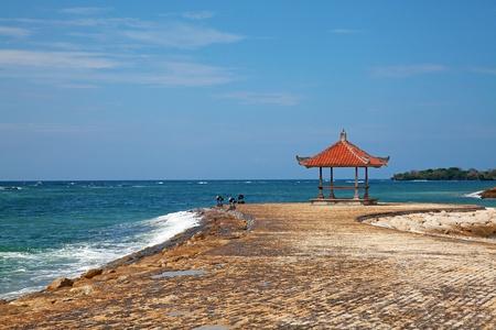 beautiful balinese Nusa Dua beach photo