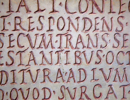 Pre-christian latin writing carved on the tombstone Stock Photo - 9036027