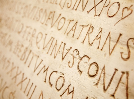 Pre-christian latin writing carved on the tombstone Stock Photo - 9036184