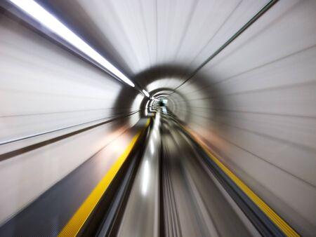 Going trough the underground tunnel (Zurich airport) Stock Photo - 9156165