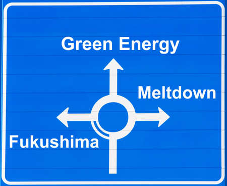 Atomic or green energy road sign photo