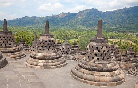 Borobudur temple near Yogyakarta on Java island, Indonesia Stock Photo - 9769015