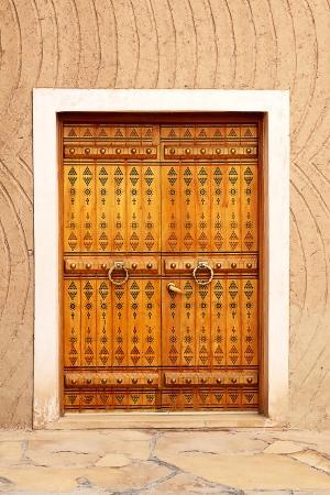 frontage: Traditional arabic doorway (National museum, Riyadh, Saudi Arabia)