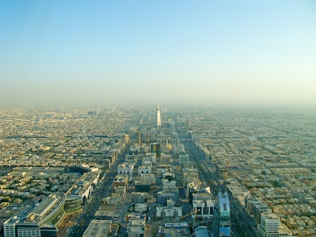 saudi arabia: Riyadh city from the top