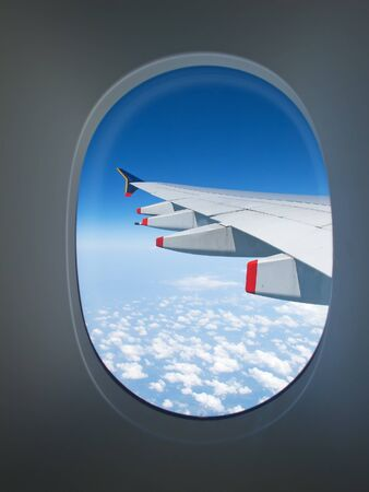 airplane window: View from the airplane window