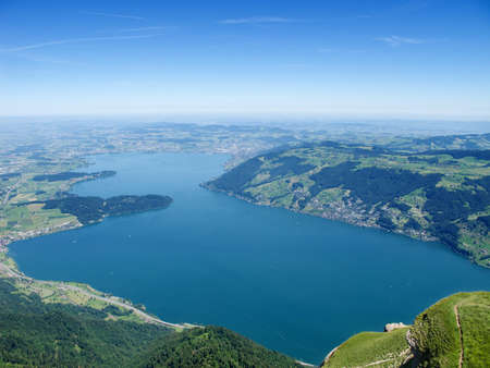 View from the top of the Rigi mountain Stock Photo - 9897715