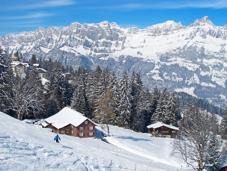 Winter in the swiss alps, Switzerland Stock Photo - 10024631