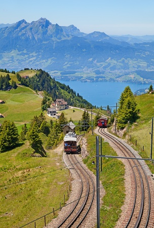 View from the top of the Rigi mountain photo