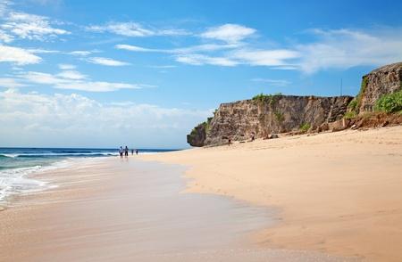 dreamland:  Small and beautiful balinese Dreamland beach Stock Photo