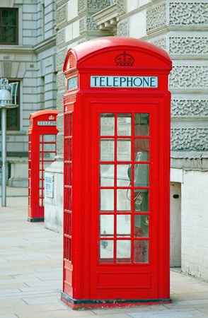 english famous: Famous red telephone booth in London, UK