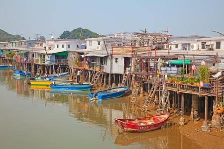 kong river: Tai O fishing village near Hong Kong, China