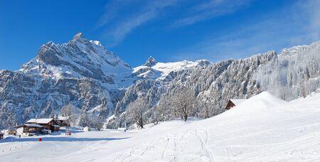 Winter in the swiss alps, Switzerland Stock Photo - 10765620