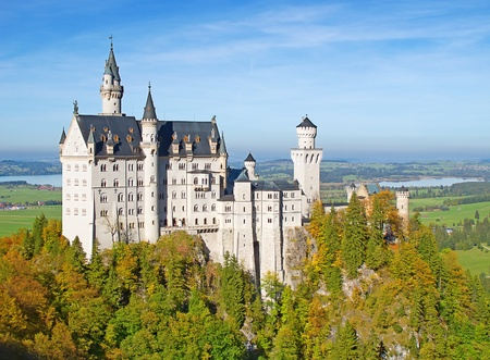ludwig: Neuschwanstein castle in Bavarian alps, Germany