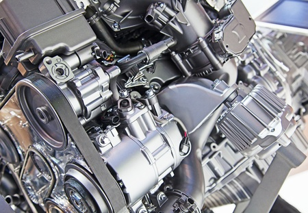 Part of the modern car engine photo
