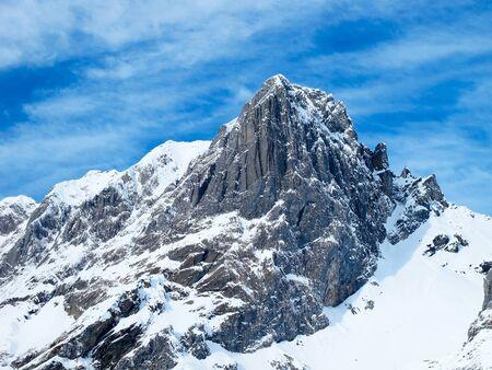 Dramatic alpine winter season landscape. January 2011, Switzerland. photo