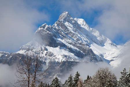 Winter in the swiss alps (Braunwald, Glarus, Switzerland) photo