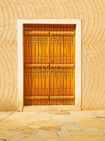 Traditional arabic doorway (National museum, Riyadh, Saudi Arabia)  photo