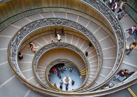 vatican: A double spiral staircase in Vatican, Italy