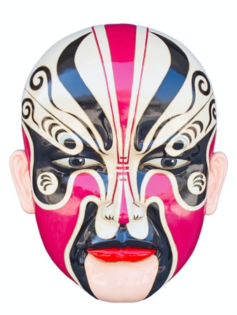 theatre masks: Traditional chinese opera mask isolated on white Stock Photo