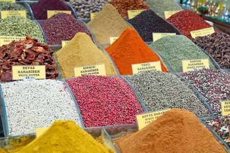Turkey, Istanbul, Spice Bazaar, turkish spices for sale Stock Photo - 11839825