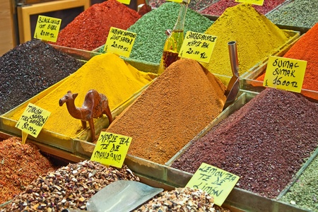 Turkey, Istanbul, Spice Bazaar, turkish spices for sale Stock Photo - 11839855