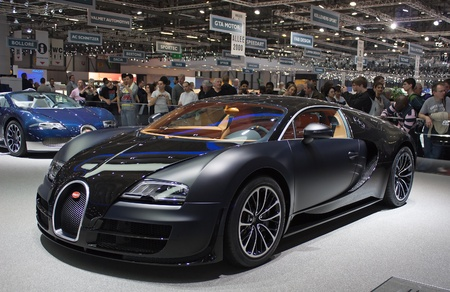 GENEVA - MARCH 8: The Bugatti GTX Sport car on display at the 81st International Motor Show Palexpo-Geneva on March 8; 2011  in Geneva, Switzerland.