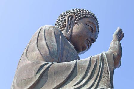 lantau: Statua di Buddha sull'isola di Lantau, Hong Kong Archivio Fotografico