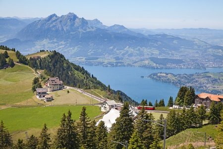 View from the top of the Rigi mountain Stock Photo - 12140626