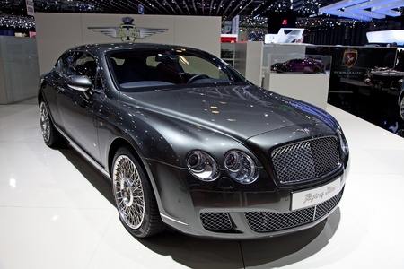 GENEVA - MARCH 8: The new Bentley Continental Flying Star on display at the 81st International Motor Show Palexpo-Geneva on March 8; 2011  in Geneva, Switzerland.