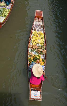 Damnoen Saduak floating market in Ratchaburi near Bangkok, Thailand Editorial