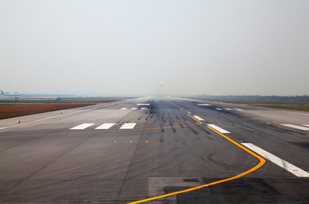Runway of the Bangkok international airport Stock Photo
