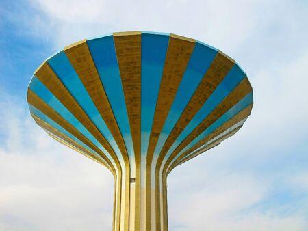 persian gulf: Famous water tower in the Riyadh city, Saudi Arabia Stock Photo