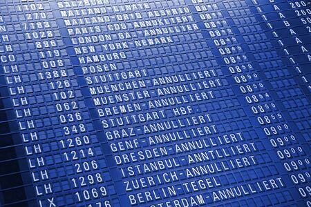 Timeboard in the modern airport Stock Photo - 12877768