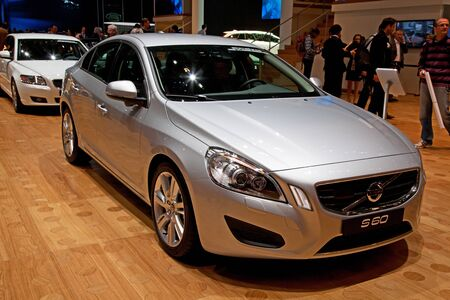 GENEVA - MARCH 8: The Volvo S60 on display at the 81st International Motor Show Palexpo-Geneva on March 8; 2011  in Geneva, Switzerland. Stock Photo - 12877551