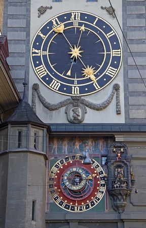 Famous Zytglogge zodiacal clock in Bern, Switzerland photo