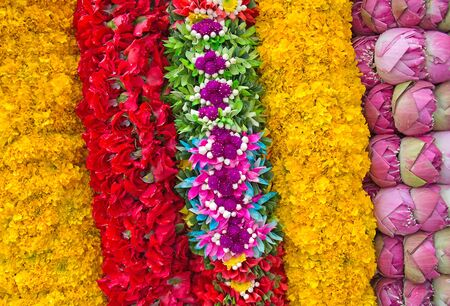 Flower Garlands for Hindu Religious Ceremony photo