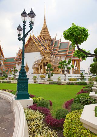 emerald city: Grand Palace and Temple of Emerald Buddha complex in Bangkok, Thailand