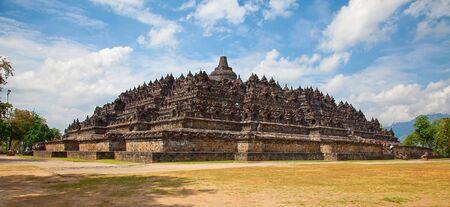 lotus temple: Borobudur temple near Yogyakarta on Java island, Indonesia