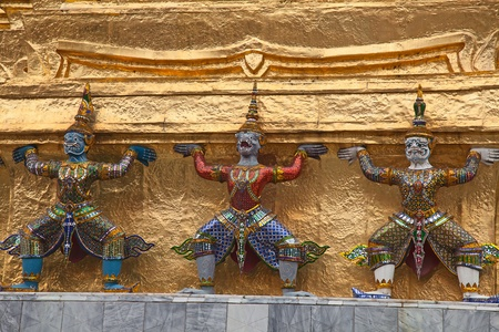 Elements of the decorations of the Grand Palace and Temple of Emerald Buddha in Bangkok, Thailand Stock Photo - 13613877