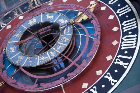 zodiacal: Famous Zytglogge zodiacal clock in Bern, Switzerland Stock Photo