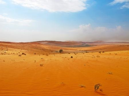 Arabia desierto alrededor de Riyadh-Meca (Meca) la carretera en Arabia Saudí Foto de archivo