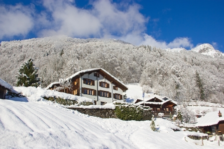 Winter in the swiss alps, Switzerland Stock Photo - 14466514