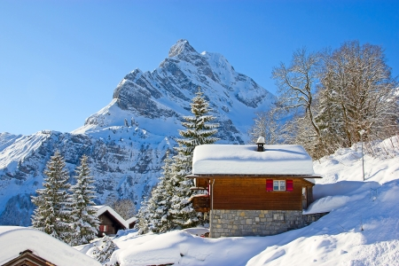 Winter in the swiss alps, Switzerland Stock Photo - 14466516