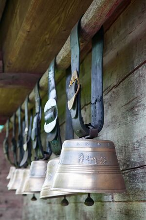 Collection of the cow bells photo