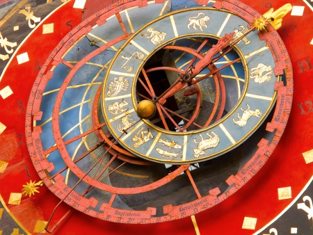 zodiacal: Famous Zytglogge zodiacal clock in Bern, Switzerland Editorial